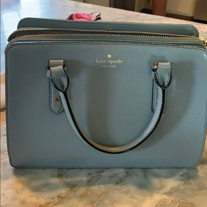 Gray/blue Kate spade purse